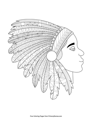 American Indian Coloring Pages Printable - Get Coloring Pages | 400x309