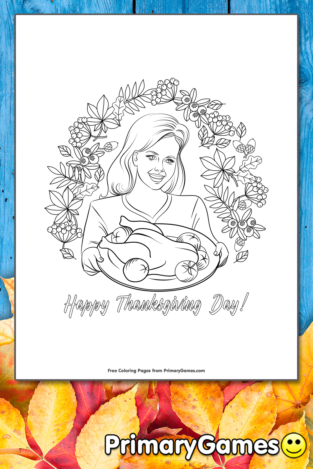 coloring pages cooked turkey - photo#41