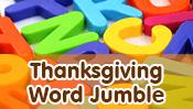 Thanksgiving Word Jumble