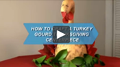 How To Craft a Turkey Gourd Thanksgiving Centerpiece