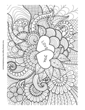Love You Zentangle
