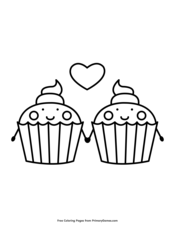 Cupcakes Holding Hands