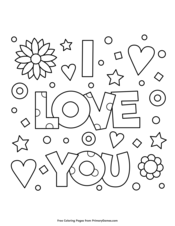 Valentine S Day Coloring Pages Free Printable Pdf From