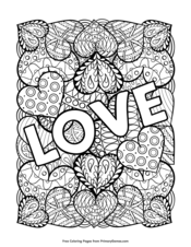 valentine's day coloring pages • free printable pdf from primarygames