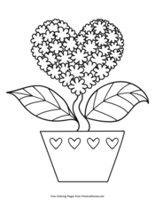 Hearts and Flowers Coloring Page • FREE Printable PDF from ... | 226x175