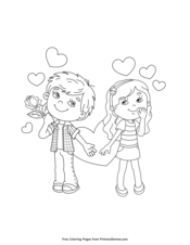 Boy and Girl Valentine Couple