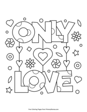 Valentine S Day Coloring Pages Printable Coloring Ebook Primarygames