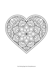 Valentine S Day Coloring Pages Free Printable Pdf From Primarygames