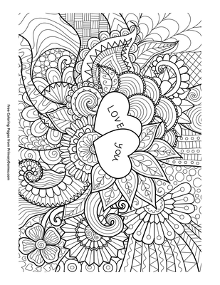 picture regarding Zentangle Printable identify Appreciate On your own Zentangle Coloring Site Printable Valentines Working day