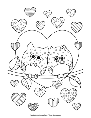 I Love You Hearts coloring page | Free Printable Coloring Pages | 400x309