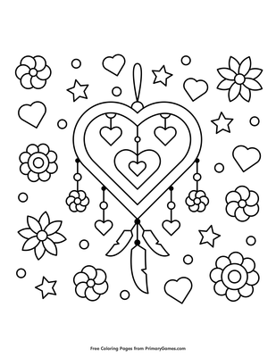 Dream Catcher Printable Coloring Page Adult by MoonDrawArts ... | 400x309
