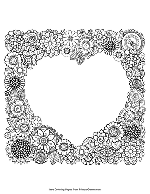 Frame Coloring Page