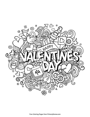 Happy Valentine's Day Coloring Pages - Get Coloring Pages | 400x309