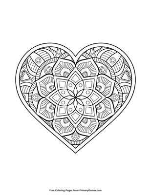 Mandala Heart Coloring Page • FREE Printable PDF from ...