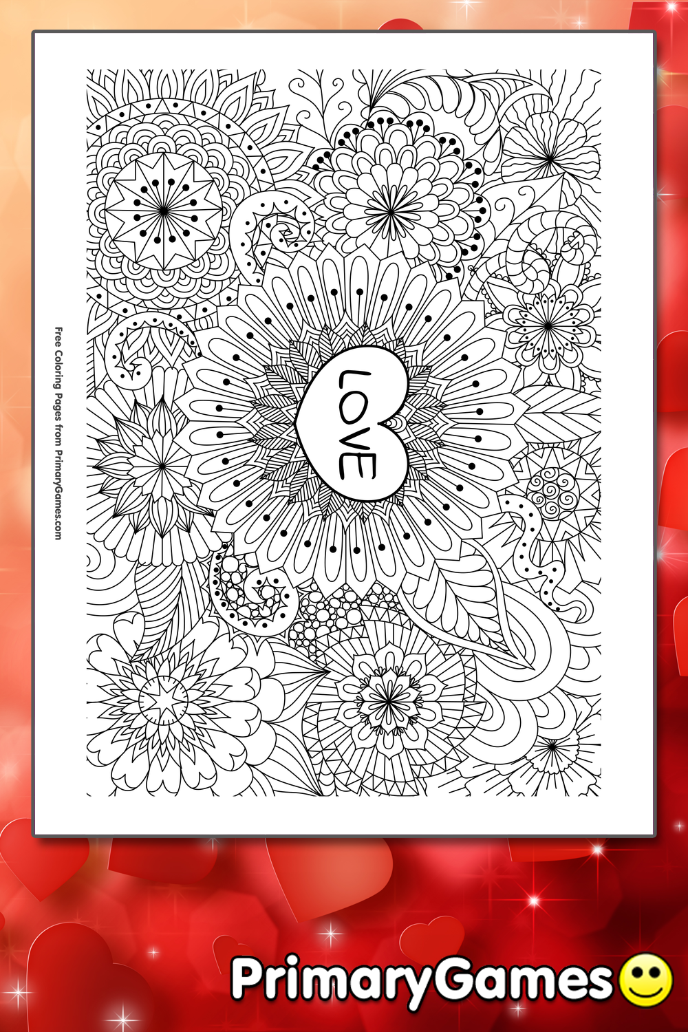 Love Coloring Page Printable