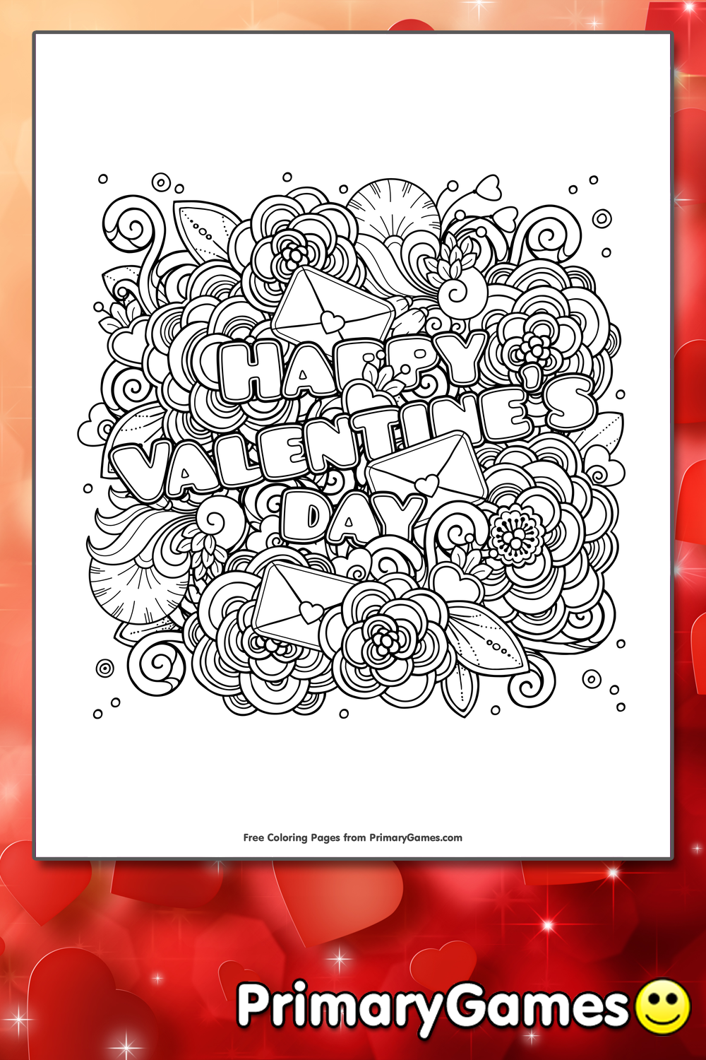 Happy Valentine's Day Coloring Page • FREE Printable PDF from ...