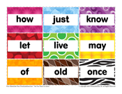 First Grade Sight Words: How to Once