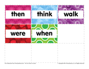 First Grade Sight Words: Then to When