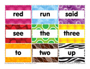 Pre-K Sight Words: Red to Up