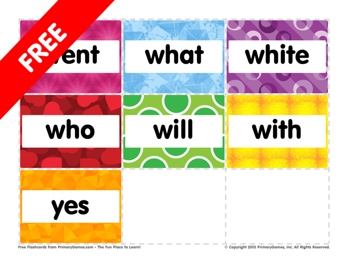 This is a photo of Free Printable Sight Word Flashcards for pdf