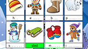 Spelling Cards: Winter