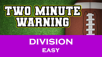 Two Minute Warning: Division Flashcards - Easy