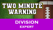 Two Minute Warning: Division Flashcards - Expert