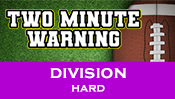 Two Minute Warning: Division Flashcards - Hard