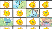 Math Memory Clocks: Spring Edition