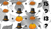 Math Riddles: Thanksgiving