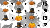 Math Riddles: Thanksgiving