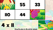 Math Tiles: Easter Multiplication