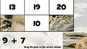 Math Tiles: Groundhog Day Addition and Subtraction