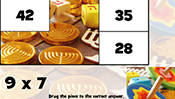 Math Tiles: Hanukkah Multiplication