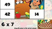 Math Tiles: Thanksgiving Multiplication