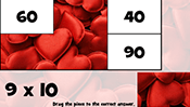 Math Tiles: Valentine's Day Multiplication
