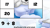 Math Tiles: Winter Addition and Subtraction