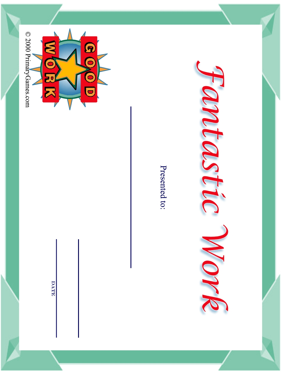 award certificates primarygames com free printable worksheets