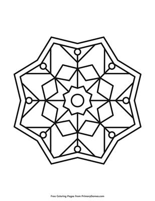 Simple Mandala Coloring Page | Printable Mandalas Coloring