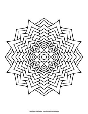 Flower Mandala Coloring Page Printable Mandalas Coloring Ebook