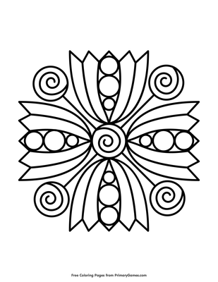 Simple Mandala Coloring Page Free Printable Pdf From Primarygames