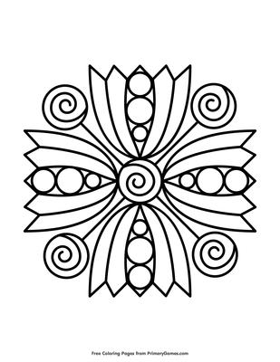 Simple Mandala Coloring Page Coloring Page Free Printable Pdf