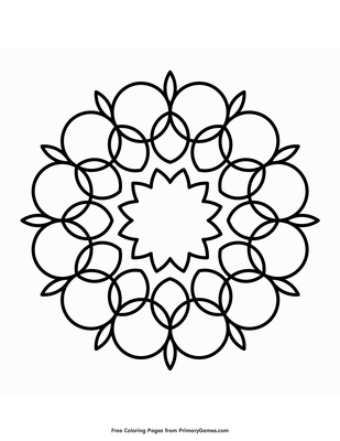 Circle Mandala Coloring Page Free Printable Pdf From Primarygames