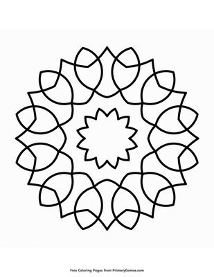 21 Easy Adult Coloring Books in 2020 | Easy mandala drawing, Simple mandala,  Mandala printable | 400x309