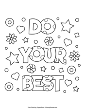 Positive Messages Coloring Pages Free Printable Pdf From Primarygames
