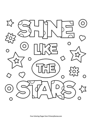 Stars grown up coloring page | Star coloring pages, Coloring pages ... | 400x309