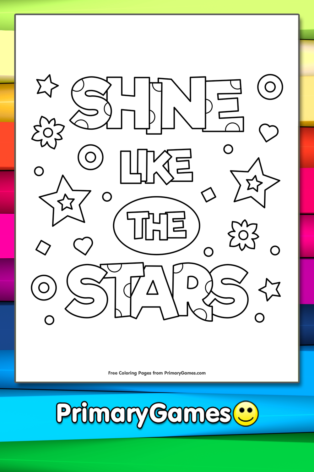 Shine Like The Stars Coloring Page