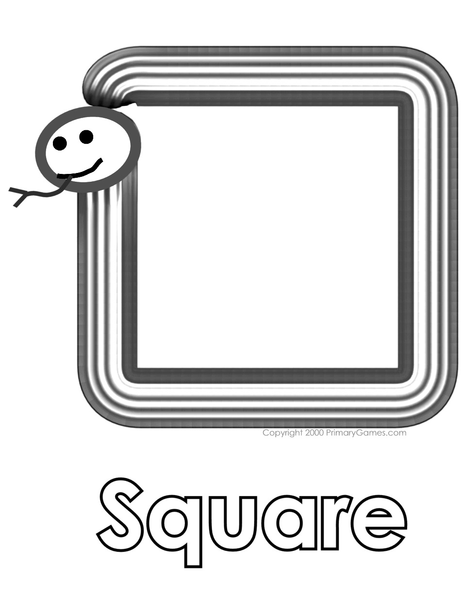 coloring pages for square shape - photo#32