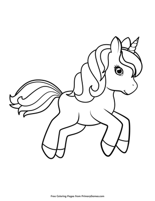 Unicorn Pictures To Color Pdf | Bruin Blog