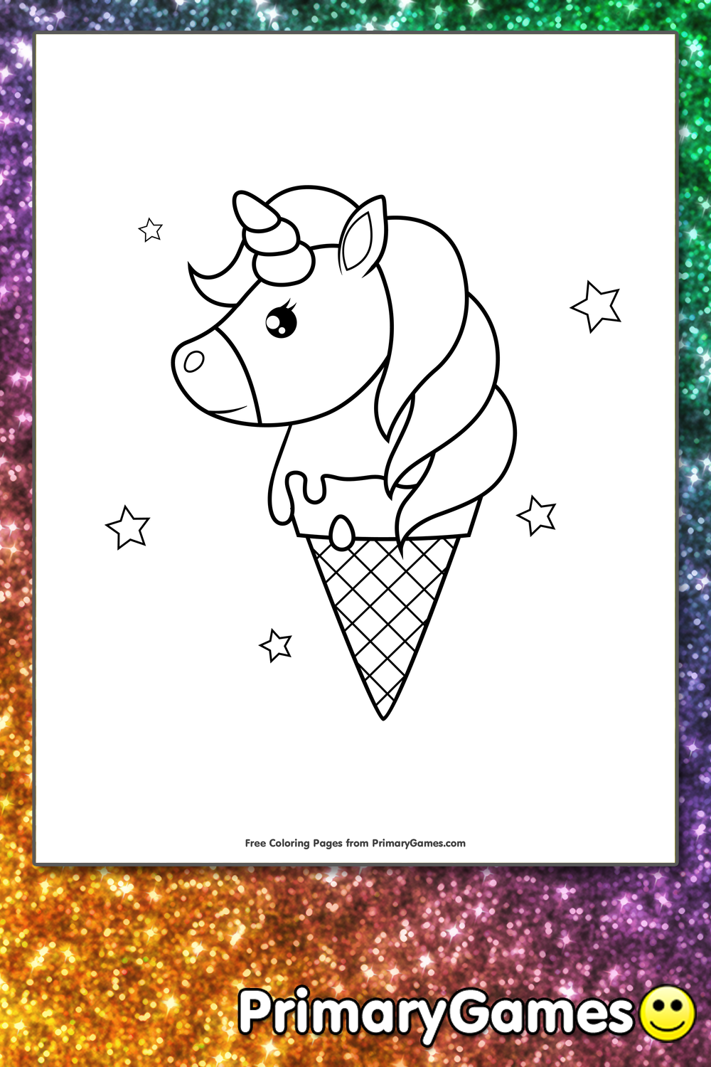 - Unicorn Ice Cream Cone Coloring Page • FREE Printable PDF From